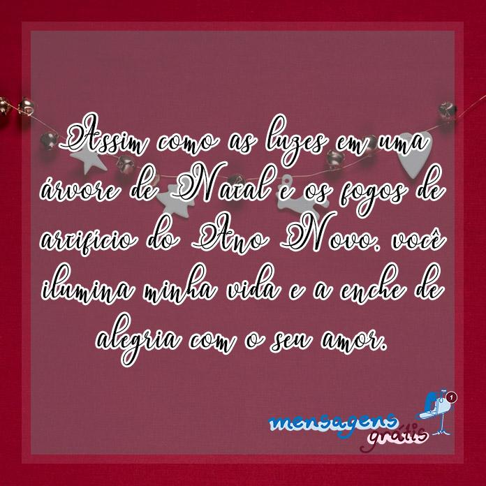 Mensagem de Natal e Ano Novo para Namorado(a)
