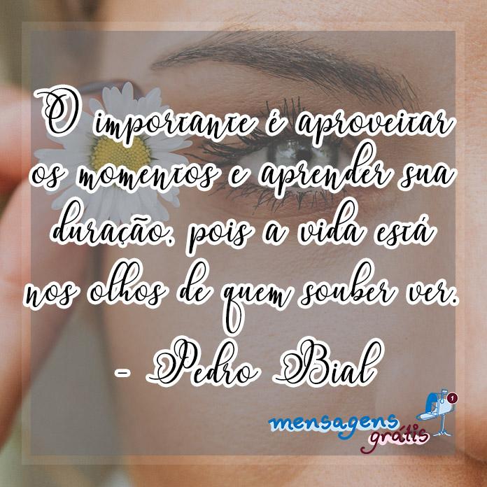 Mensagens de Pedro Bial