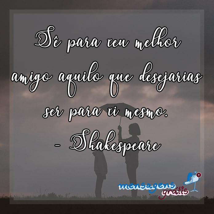 Frase de William Shakespeare Sobre Amizade
