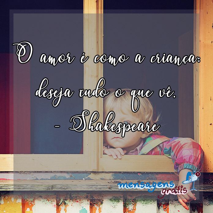 Frase de William Shakespeare Sobre o Amor