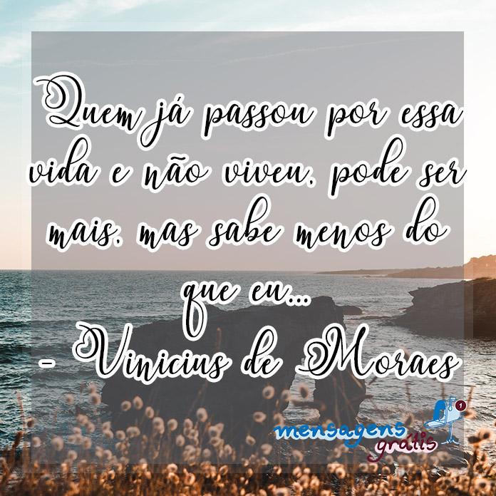 Frases de Vinicius de Moraes Sobre a Vida