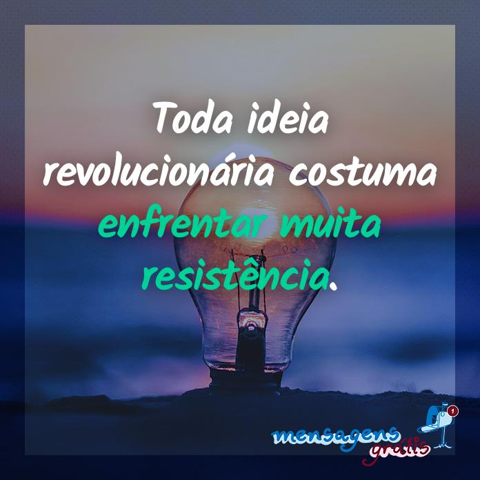 Ideia Revolucionária - Frase do Livro Ouse Ser Diferente